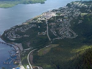 Prince Rupert, British Columbia - Aerial view of Prince Rupert