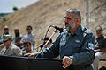 Afghan Border Police general speaks during a graduation ceremony at Regional Training Center, Sheberghan.jpg