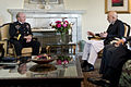 Afghanistan President Hamid Karzai, right, meets with Chairman of the Joint Chiefs of Staff Gen. Martin E. Dempsey, left, at the Presidential Palace in Kabul, Afghanistan, on July 22, 2013 130722-D-VO565-009.jpg