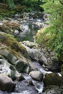 Afon Colwyn River in Gwynedd, Wales