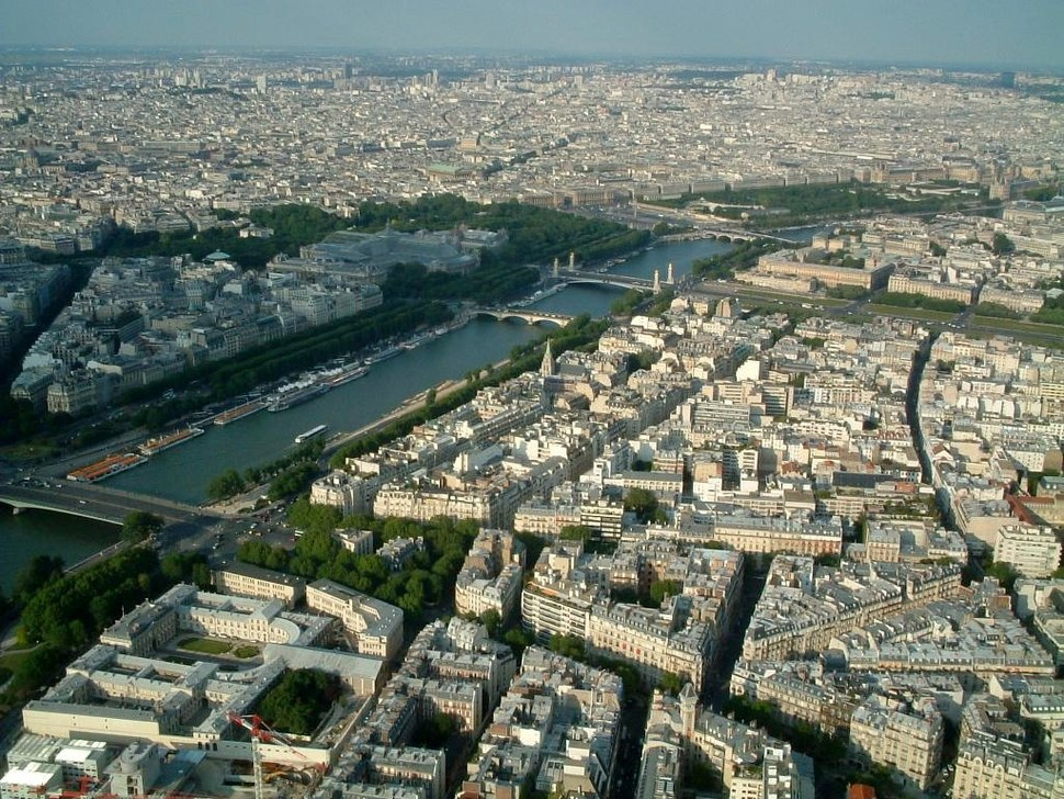 Aftnn The Seine from the Eiffel Tower