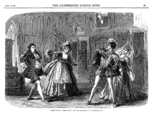 Ages Ago - A scene from Ages Ago, The Illustrated London News, 15 January 1870