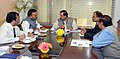 Ajay Chandrakar meets the Minister of State for Culture (Independent Charge), Tourism (Independent Charge) and Civil Aviation, Dr. Mahesh Sharma, in New Delhi on November 21, 2014.jpg
