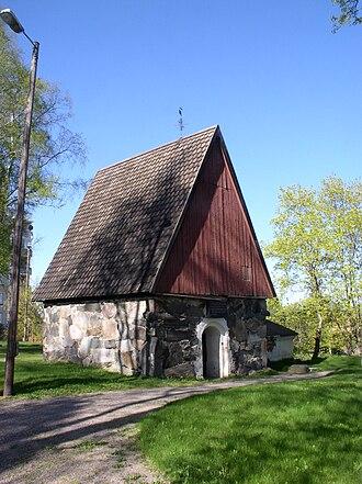 Akaa - Akaa medieval stone sacristy
