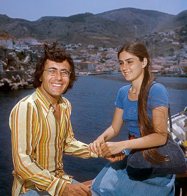 Al Bano and Romina Power in Greece in 1975
