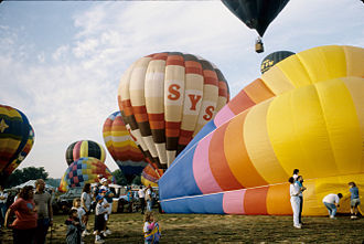 Decatur, Alabama - Balloons inflating at the 1990 Alabama Jubilee.