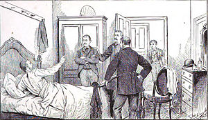 Anthony Allaire - Allaire stands guard over Daniel McFarland as Albert D. Richardson identifies him as his murderer.