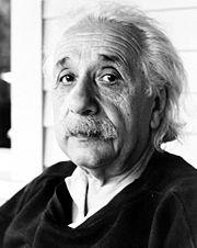 Einstein těsně před svou smrtí, v lednu 1953