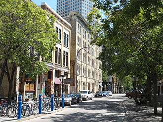 Downtown Winnipeg - Albert Street, in the Exchange District