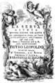 Alessandro Felici - La serva astuta - titlepage of the libretto - Florence 1768.png