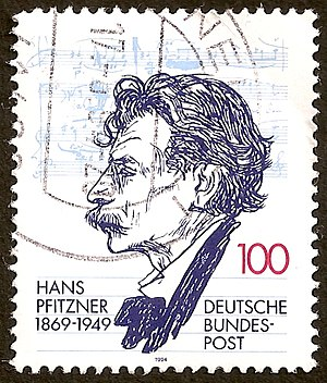 Hans Pfitzner - Hans Pfitzner featured on a 1994 German postage stamp
