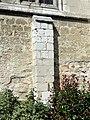 Allonne (60), église Notre-Dame de l'Annonciation, 3e travée du sud, contrefort roman.JPG