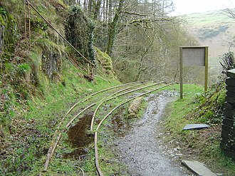 Talyllyn Railway - The head of the Alltwyllt incline at the end of the Nant Gwernol extension in 2008
