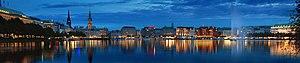 Hamburg Metropolitan Region - Image: Alster Panorama