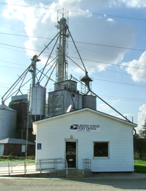 Alvin, Illinois - Alvin post office and grain elevator