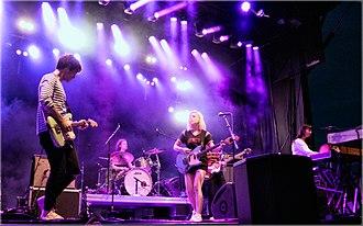 Alvvays - Alvvays performing at the Sasquatch! Music Festival in 2015