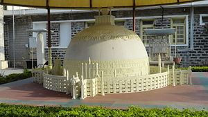 Amaravathi Mahachaitya - A model of the original stupa, as imagined by archaeologists
