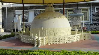 Amaravati Stupa - A model of the original stupa, as imagined by archaeologists