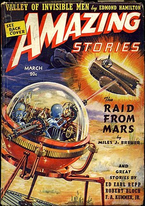 "Miles J. Breuer - Breuer's ""The Raid from Mars"" was the cover story in the March 1939 issue of Amazing Stories"