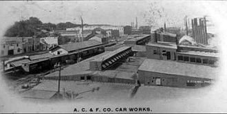 American Car and Foundry Company - A 1907 postcard depicting the ACF plant at St. Charles, Missouri