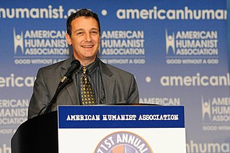 Secular humanism - David Niose, president of the American Humanist Association, speaks at a 2012 conference.
