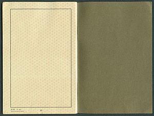 Amtsdokument Paul Fischer 1940 Deutsches Reich Reisepass Seite 34 35 blanco A 52 5.36 Reichsdruckerei Berlin.jpg