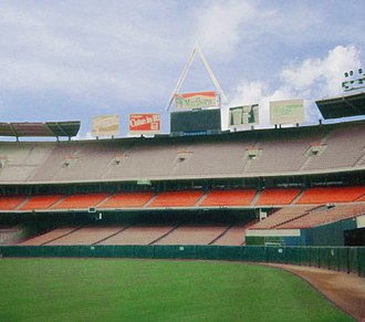 Los Angeles Rams - Anaheim Stadium, the home of the Los Angeles Rams 1980–1994