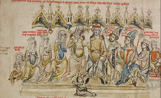 Berthold, Duke of Merania - Berthold, Agnes and their family, Hedwig Codex, 1353