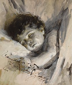 ZORN Anders (1860-1920) Sleeping Child