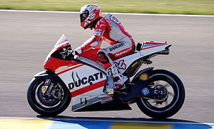 Factory-backed - In the 2015 MotoGP season, the Ducati factory team used the 2015 version of their bike, while customer teams Avintia and Pramac both used the 2014 version.