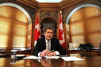 Andrew Scheer - Scheer in his parliamentary office, September 15, 2017