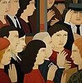 "Andrew Stevovich oil painting, Bus Stop, 2001, 24"" x 24"".jpg"