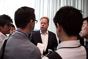 Andy Palmer - Andy Palmer, talking to reporters during e-NV200 launch in Yokohama.