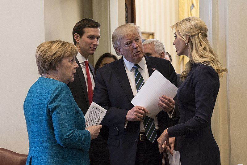 Kushner Partner in 666 Fifth Ave. Says It Has Deal to Sell 800px-Angela_Merkel%2C_Jared_Kushner%2C_Donald_Trump_and_Ivanka_Trump%2C_March_2017