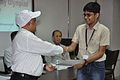 Anil Shrikrishna Manekar Presents Certificate to Harshit Khandelwal - Orientation cum Selection Camp for XXI International Astronomy Olympiad - NCSM - Kolkata 2016-05-17 3837.JPG