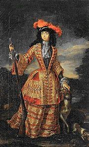 Anna maria luisa de medici hunting dress