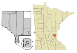 Location of the city of Hilltopwithin Anoka County, Minnesota