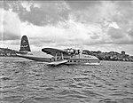 Ansett Airways' flying boat Beachcomber on Sydney Harbour.jpeg