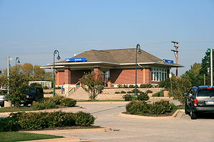 Antioch, Illinois - The Metra train station near downtown Antioch.