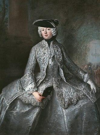 Anna Amalia, Abbess of Quedlinburg - Image: Antoine Pesne hofdame ; Prinzessin Amalia von Preussen als Amazone