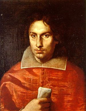 Antonio Barberini - Portrait by Simone Cantarini, 1630