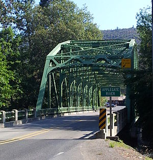 Oregon Route 238 - This photo was taken on September 1, 2012 of the Applegate Bridge on west bound Oregon Highway 238.