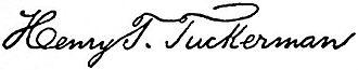 Henry Theodore Tuckerman - Image: Appletons' Tuckerman Joseph Henry Theodore signature
