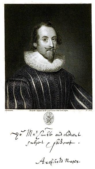 Archibald Napier, 1st Lord Napier - Sir Archibald Napier (1576-1645)