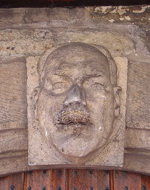 Ad van der Steur - Relief of Ad van der Steur in the western wall of the city hall of Gouda