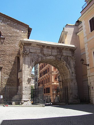 Gallienus - Arch of Gallienus in Rome, 262 – dedicated to, rather than built by, Gallienus.