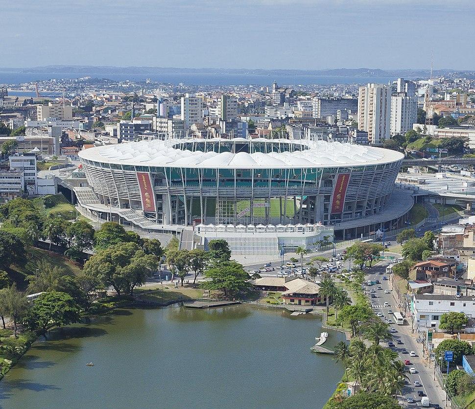 Arena Fonte Nova view from lake (zoom)