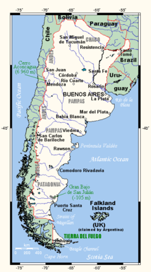Outline Of Argentina Wikipedia - Argentina map outline