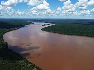 Iguazu River - The river directly above Iguazu Falls