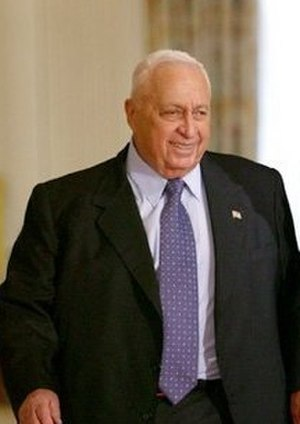 Unit 101 - Ariel Sharon at a visit to the White House, April 2004.